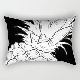 BLACK & WHITE PINEAPPLE Rectangular Pillow