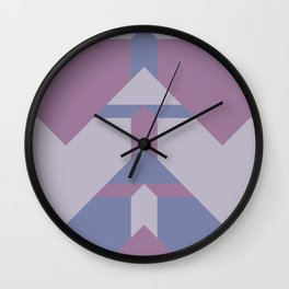 Violet Directions #society6 #violet #pattern Wall Clock