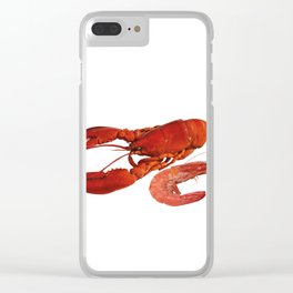 seafood shell scallop lobster shrimps white Clear iPhone Case