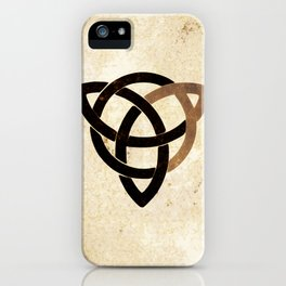 Celtic knot on old paper iPhone Case