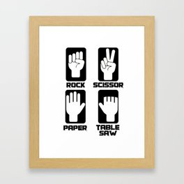 scissors stone paper circular saw craftsman gift Framed Art Print