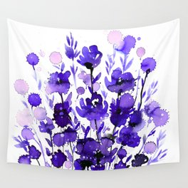 Floral Charm No.1A by Kathy Morton Stanion Wall Tapestry