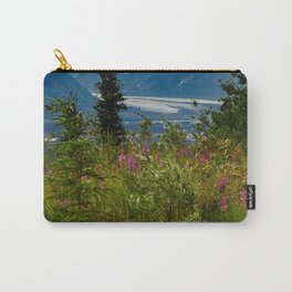 Alaskan Glacier & Fireweed Carry-All Pouch