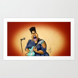 Brittany Howard of the Alabama Shakes Art Print