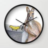kangaroo Wall Clocks featuring Kangaroo by Big AL