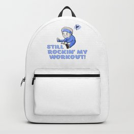 Grandma Ballet Still Rockin My Workout Funny Aging Exercise Backpack