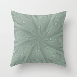 Lost in the Laurels Fractal Bloom Throw Pillow