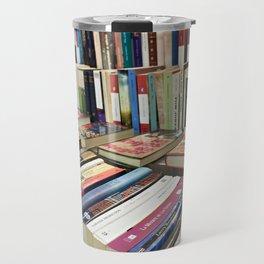 Sale of books on flea market Travel Mug