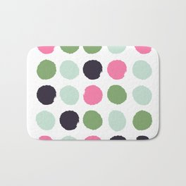 Painted dots minimal colorful pattern polka dots nursery baby decor Bath Mat