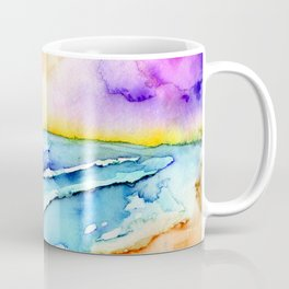 violet clouds - beach at sunset Coffee Mug
