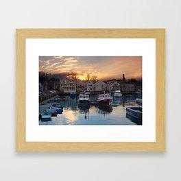 Rockport dock Framed Art Print