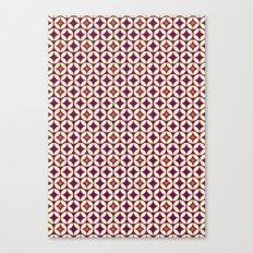 Repeated Retro - purple Canvas Print
