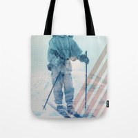 husky Tote Bags featuring Husky Exploration by Chase Kunz