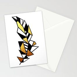 Gold Feather Design Stationery Cards