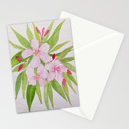Watercolor Nerium Oleander Crown Stationery Cards