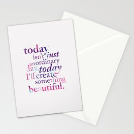 Today - Multicolor Stationery Cards