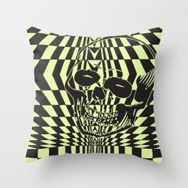 Shredding Skull Throw Pillow
