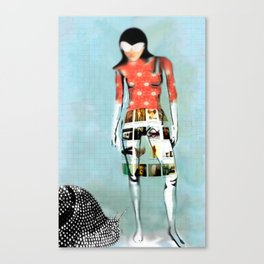 Girl with Snail Canvas Print