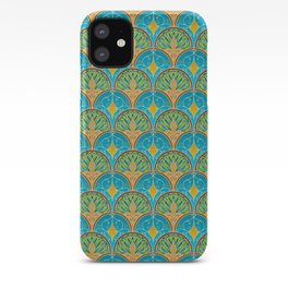 Art Deco Peacock Fans iPhone Case
