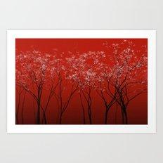Trees redwine Art Print