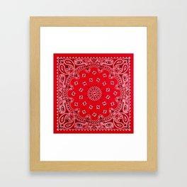 Paisley - Bandana Art - Red - Southwestern Framed Art Print