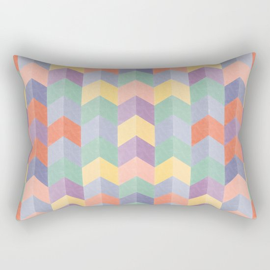 Colorful geometric blocks Rectangular Pillow