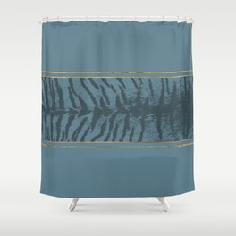 Blueprint and Animal texture 2 Shower Curtain