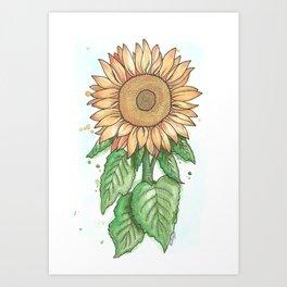 Cheerful Sunflower Art Print