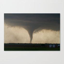 Tornado On the Ground at Salina Kansas Canvas Print