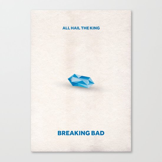 Breaking Bad Minimalist Poster- Baby Blue Canvas Print
