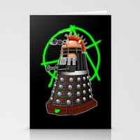 dalek Stationery Cards featuring Punk Dalek by Andrew Mark Hunter