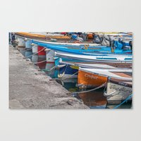 boats Canvas Prints featuring Boats by Travelling Dave