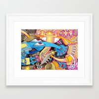 ice cream Framed Art Prints featuring Ice Cream by Yuliya