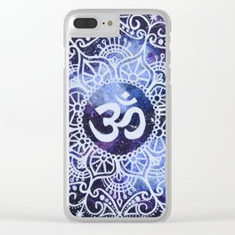 Om Galaxy Mandala Clear iPhone Case