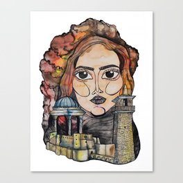 Woman in Refuge Canvas Print