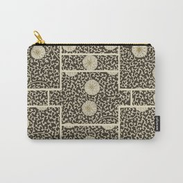 Retro Floral Black Carry-All Pouch