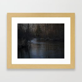 Outdoors, Rifle River, Nature, Adventure, Fishing, Relaxation Framed Art Print