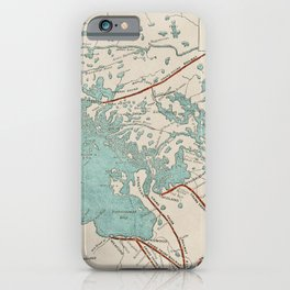 Vintage Map of Georgian Bay iPhone Case