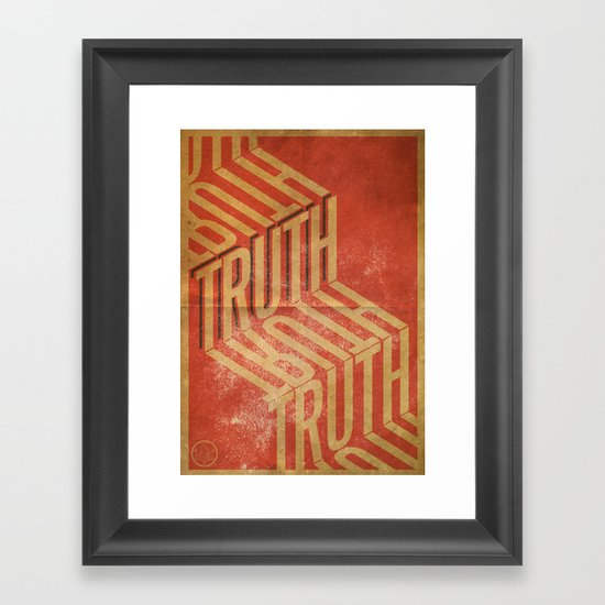 Finding Truth Framed Art Print