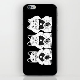 Three Smart Cats iPhone Skin