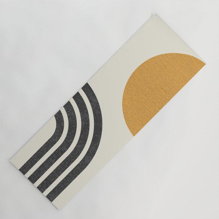 Mid century modern Sun & Rainbow Yoga Mat
