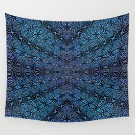 Indigo Vortex Wall Tapestry