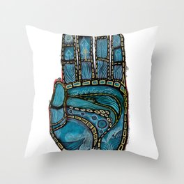 The Hand Of (Free)Time Throw Pillow