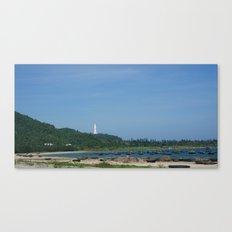 Boat Scene in Danang Canvas Print