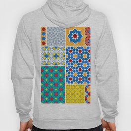 Moroccan pattern, Morocco. Patchwork mosaic with traditional folk geometric ornament. Tribal orienta Hoody
