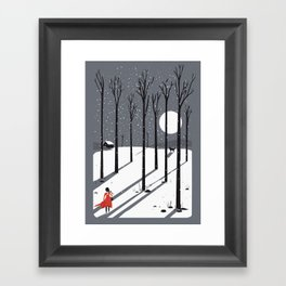 little red cap Framed Art Print