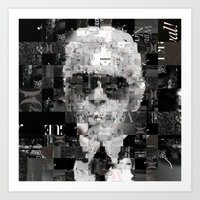 karl lagerfeld Art Prints featuring Karl Lagerfeld by Artstiles