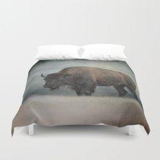 Stormy Day - Buffalo - Wildlife Duvet Cover