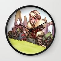 hiccup Wall Clocks featuring Hiccup and Astrid by Kiome-Yasha
