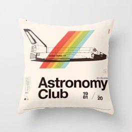Astronomy Club Throw Pillow